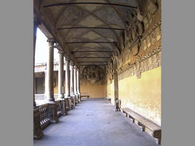 <i ><b><a target='_blank' style='color : #fff;' href='http://en.wikipedia.org/wiki/University_of_Padua'>Ancient Courtyard</a></b> : the ancient courtyard in the Bo palace.</i>